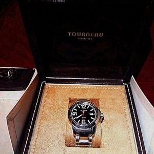 Tourneau S/S mens watch. VG condition. With box
